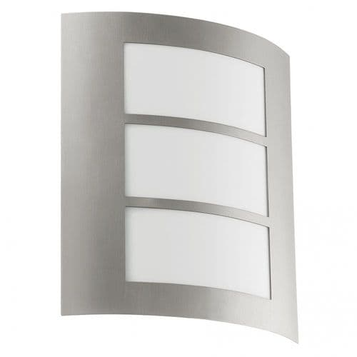 Eglo Outdoor 88139 City Outdoor Wall Light Stainless Steel